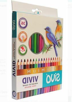 SiVo Vivid Vibrant Premium Color Pencils Box Set of 36