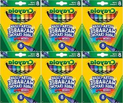 Crayola Kid's First Large Washable Crayons, 8 Count