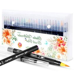 Watercolor Brush Markers Pen, Ohuhu 48 Colors Water Based Dr