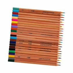 Craft County Watercolor Pencil Set - 24 Pack of Assorted Col