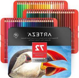 ARTEZA Professional Watercolor Pencils, Set of 72, Multi Col