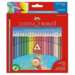 Watercolor Pencils Grip 24 Pieces Art Supplies by Creativity