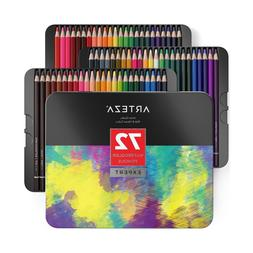 Watercolor Pencils in Storage Tin, Arteza Professional, Set