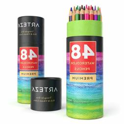 ARTEZA Watercolor Pencils Soft-Core Triangular-Shaped Pre-sh