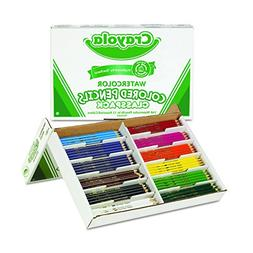 Watercolor Wood Pencil Classpack, 3.3 mm, 12 Asstd Clrs, 240