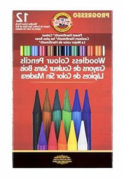 Koh-I-Noor Woodless Colored Pencil Set of 12