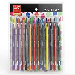 ARTEZA Woodless Watercolor Pencils, Set of 24, Multi Colored