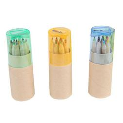 Writing Painting Colored Pencils With Sharpener 12 Colors Pe