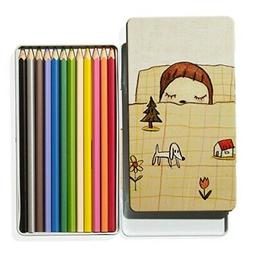 Yoshida Nara  Pen Color Pencil Set Dream Time Girls' Modern